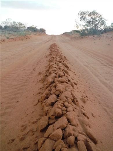road. sandy.