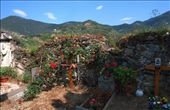 Flowers and trinkets bedeck the newest graves in an ancient cemetery in Cinque Terre.: by aelson, Views[933]