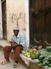 I came across this old man selling fruit and the chicken! He insisted on being paid before I took the photo.: by africanqueen, Views[735]