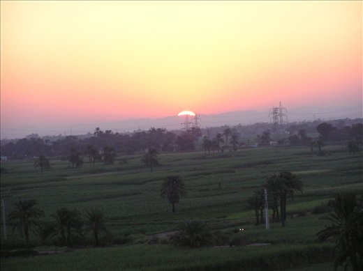 Sunrise balloon liftoff. Luxor Egypt