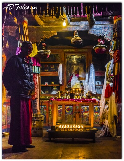 A Blessing from Lama at Langja Monastery Kaza,HP,IN