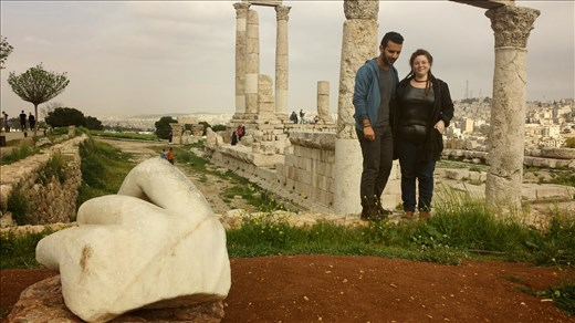With my dear friend Inbal in Amman Citadel