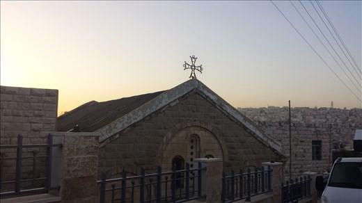 A church in Amman at sunrise