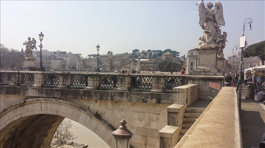 A gorgeous bridge near Vatican City