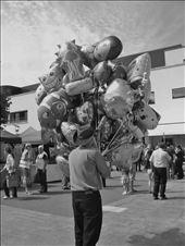 Balloon seller at the annual Puck Fair. August 2013, Killorglin, Ireland: by alessiacarrara, Views[104]