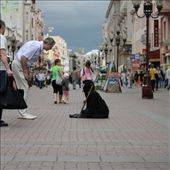 4: keep your coins, i want change. beggar in the streets of Moscow is questioned by a passer by, a little girl notices the old woman but is pulled away by her mother. Today a growing ex soviet republic beggar community is displacing native Moscow beggar: by alfonsobonilla, Views[1008]