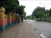 On any day but Friday, this street is crammed with cars and rikshaws and motorcycles and pedestrians.  In normal Dhaka traffic, driving one mile can take an hour.: by aliceirvin, Views[190]