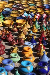 Tagines and colourful pottery: by alicekalambokas, Views[371]
