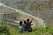 Less fortunate kids eyeing for a playground site in the copper mine haul roads.: by alim, Views[154]