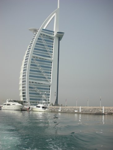Burj al Arab from the sea side