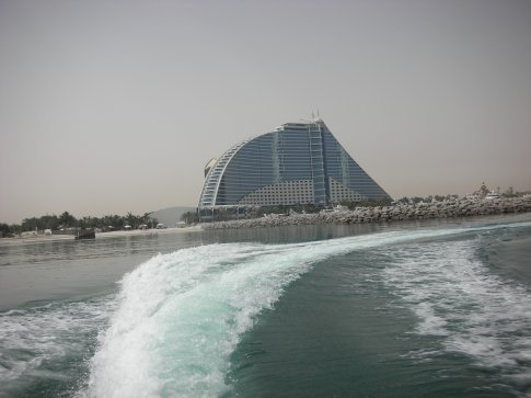 Jumeriah Beach hotel from the sea