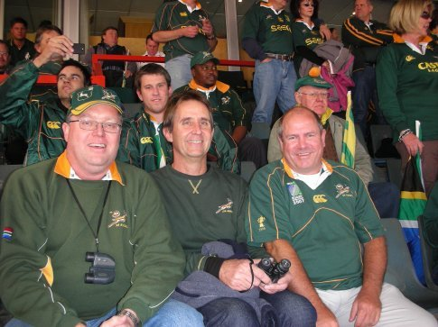 Paul, Keith and I, re-united after the 2007 Rugby World Cup in France.