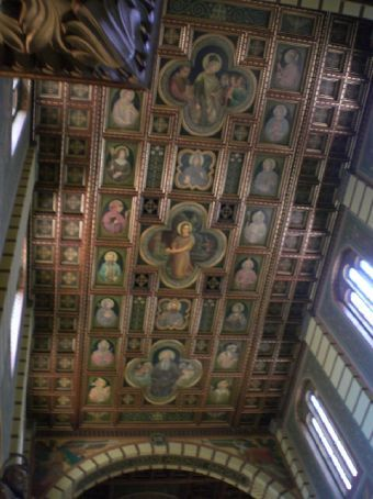 ceiling of the church