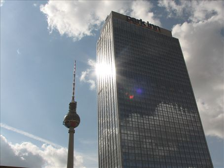 Telecom tower and office block