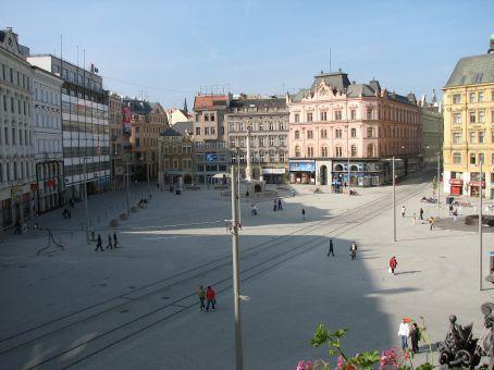 The view from my balcony - main suare, námûstí Svobody