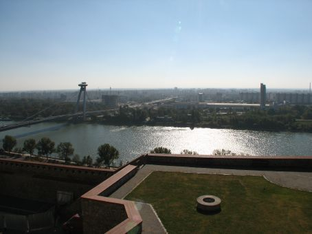 View from the castle over river Danube