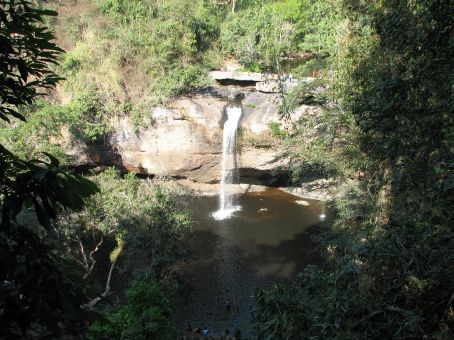 This is the waterfall from the film the Beach...its no where near a beach.  It's called Haeo Suwat