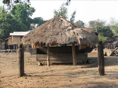 A typical villager hut