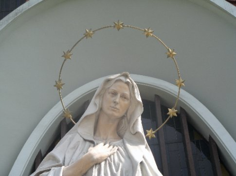 Statue of Mary at Church in Lima