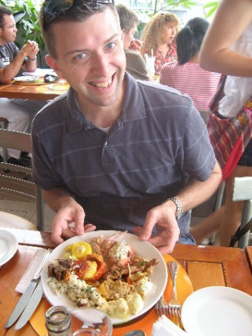Andrew loved his food at Mango's!