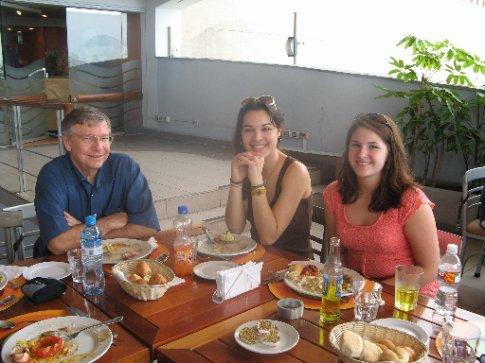 Paul, Megan and Katie enjoying lunch