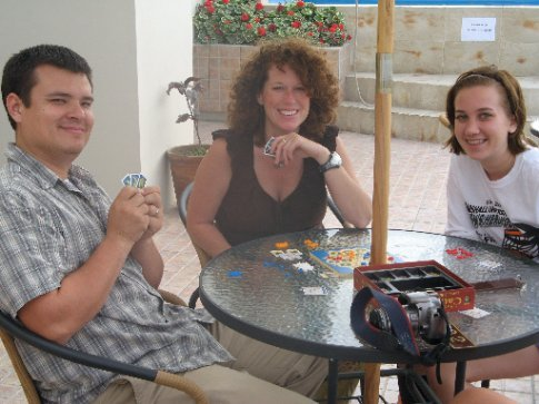 A quick game of Settlers of Catan as a break.