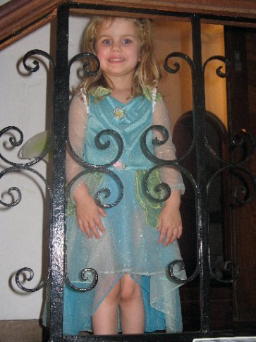 Allen and Sandi's daughter Adeline was sparkling in her tinkerbell costume