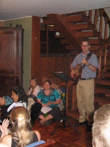 Allen leading us in worship