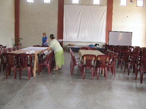 inside arevelo church