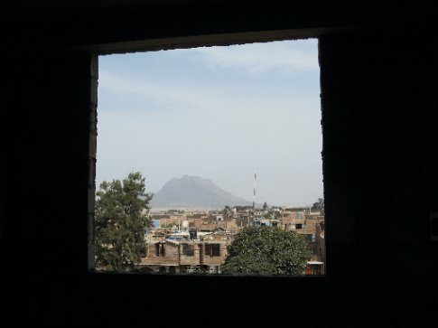 Third Floor window at ARevelo with views of the neighborhood and mountain