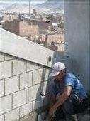 workman finishing the 4th floor of arevelo : by alleen, Views[169]