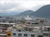 View of Xela from the top of my school.  The big white building is the Catedral in Parque Central: by alleen, Views[124]