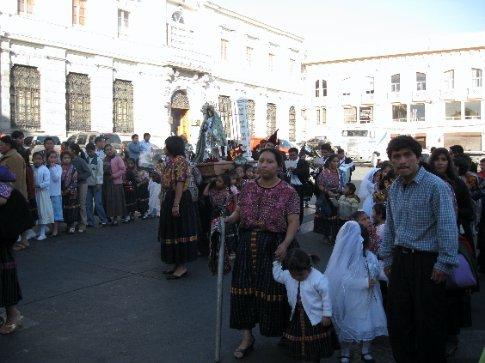 Cuaresma procession in Xela