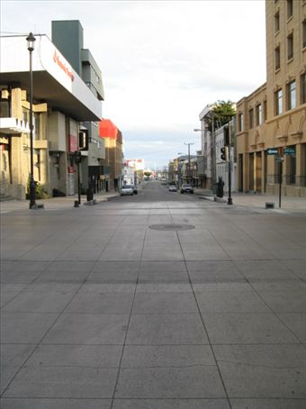 Street looking down toward the Straights of Magellan.