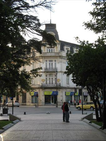 One of the many opulent buildings surrounding Plaza Munoz Gamero.