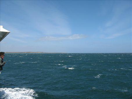 Crossing the Straits of Magellan to Tierra del Fuego