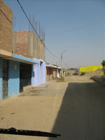Medical Clinic in Arevelo (It is the blue front building.)