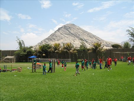 Camp Day one.  Superfun games and sports were treated to a beautiful mountain backdrop.