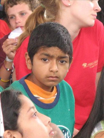 This precious child is from the orphanage in Trujillo.  He was so sweet and seemed awed by his day at camp.