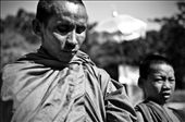A blessing for some change. Monks stopping tourist cars for alms.: by allenpangan, Views[163]