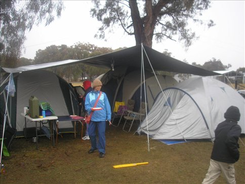 It was cold and wet and not the best moment for camping...