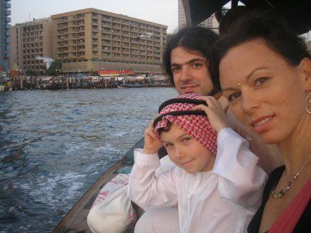 Onboard of an Abra in Dubai, crossing the Creek