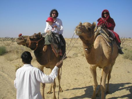 Camel safari around Bikaner