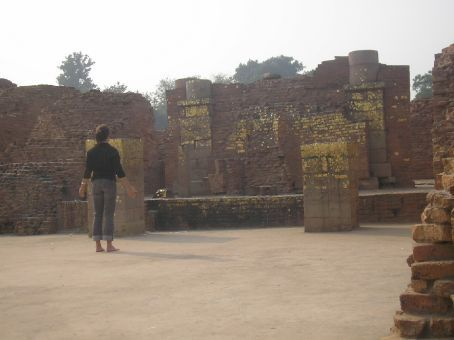 Sarnath.  Weird things happened to me here! Ruins from temples dedicated to Buddha.
