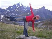 Half Moon pose. Just goes to show you that you can do yoga anywhere and without wearing popular fitness brands. Long life to brand free yoga!!!: by allwelcome, Views[941]