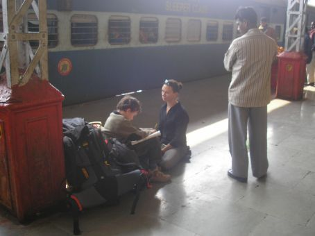 err, yes, while the train was delayed 2 hours, he did do his home work.