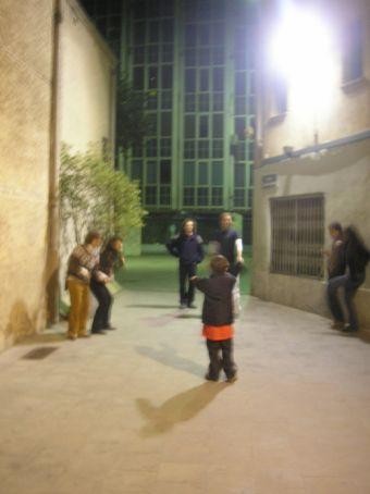 Jett directing a musical program close to Barcelona