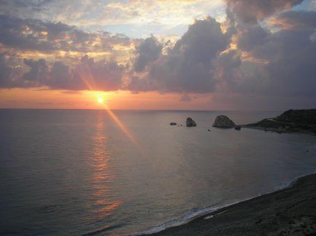 The rocks of Aphrodite!! Priceless evening.
