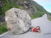 Disaster struck. Fortunately, I was able to jack the rock enough for him to escape. I had to carry him for miles back to our hut.: by allwelcome, Views[411]