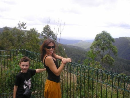 Springbrook National Park - one of the many lookouts towards the coastline and the renound Gold Coast